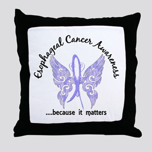 Esophageal Cancer Butterfly 6.1 Throw Pillow