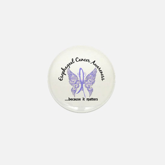 Esophageal Cancer Butterfly 6.1 Mini Button