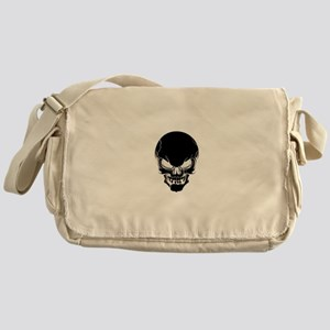 Black Skull Design Messenger Bag