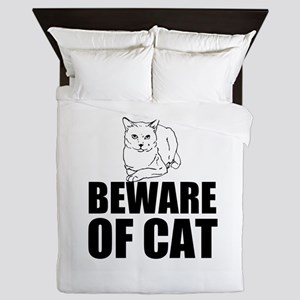 Beware of Cat Queen Duvet
