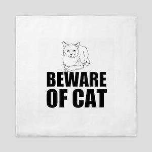 Beware of Cat Queen Duvet