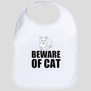 Beware of Cat Bib