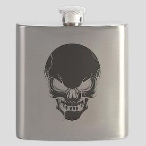 Black Skull Design Flask