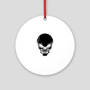 Black Skull Design Ornament (Round)