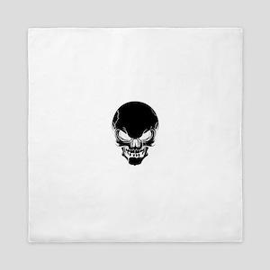 Black Skull Design Queen Duvet