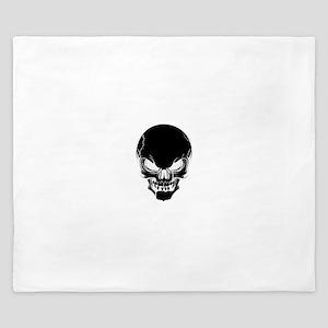 Black Skull Design King Duvet