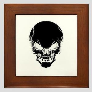 Black Skull Design Framed Tile
