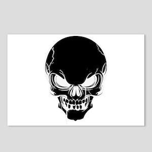 Black Skull Design Postcards (Package of 8)