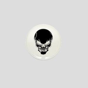 Black Skull Design Mini Button