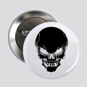 "Black Skull Design 2.25"" Button"