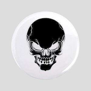 Black Skull Design Button