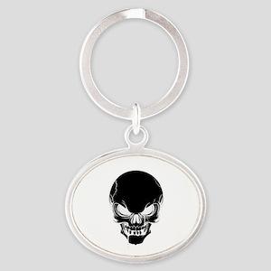 Black Skull Design Keychains