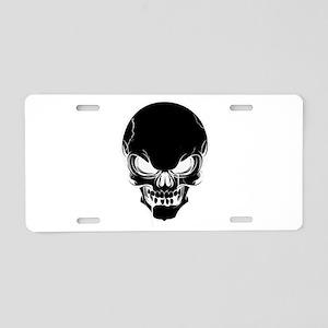 Black Skull Design Aluminum License Plate