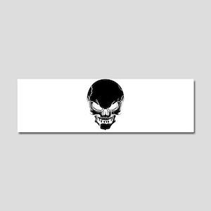 Black Skull Design Car Magnet 10 x 3