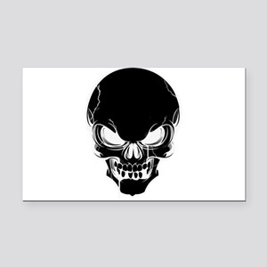 Black Skull Design Rectangle Car Magnet