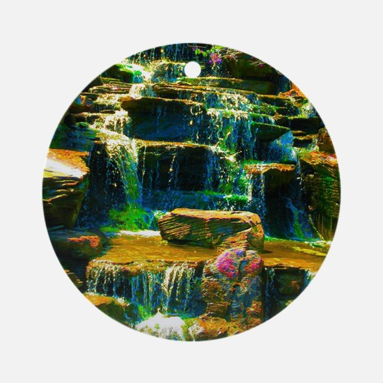 multicolor waterfall Ornament (Round)