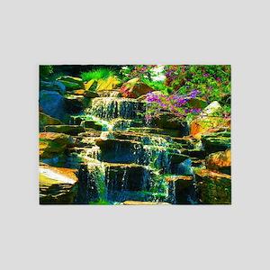 multicolor waterfall 5'x7'Area Rug