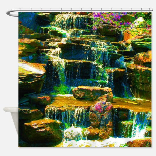 multicolor waterfall Shower Curtain