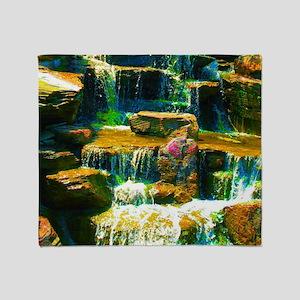 multicolor waterfall Throw Blanket