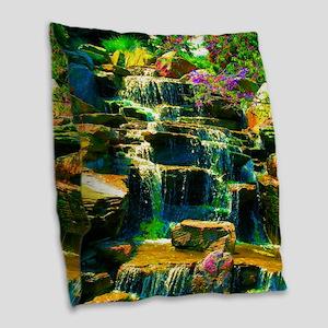 multicolor waterfall Burlap Throw Pillow