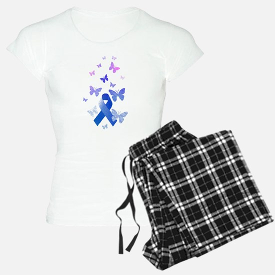 Blue Awareness Ribbon Pajamas