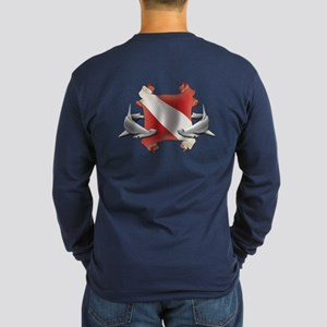 SCUBA Hammerheads Long Sleeve Dark T-Shirt