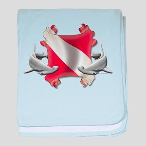 SCUBA Hammerheads baby blanket