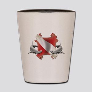 SCUBA Hammerheads Shot Glass