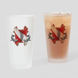 SCUBA Hammerheads Drinking Glass