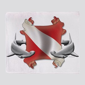 SCUBA Hammerheads Throw Blanket
