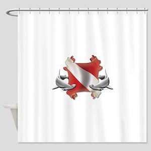 SCUBA Hammerheads Shower Curtain