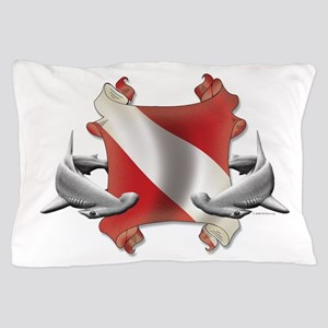 SCUBA Hammerheads Pillow Case