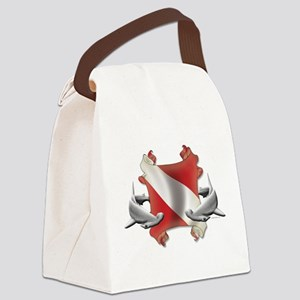 SCUBA Hammerheads Canvas Lunch Bag