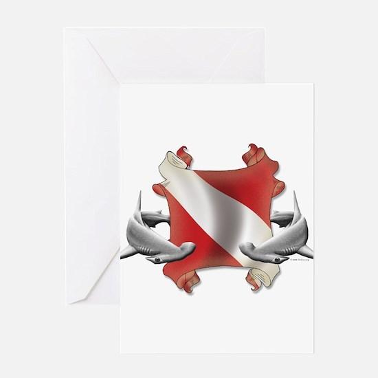 SCUBA Hammerheads Greeting Card