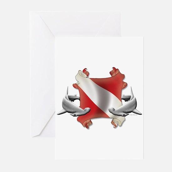 SCUBA Hammerheads Greeting Cards (Pk of 20)