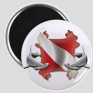 SCUBA Hammerheads Magnet