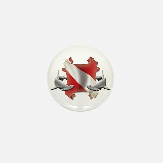 SCUBA Hammerheads Mini Button