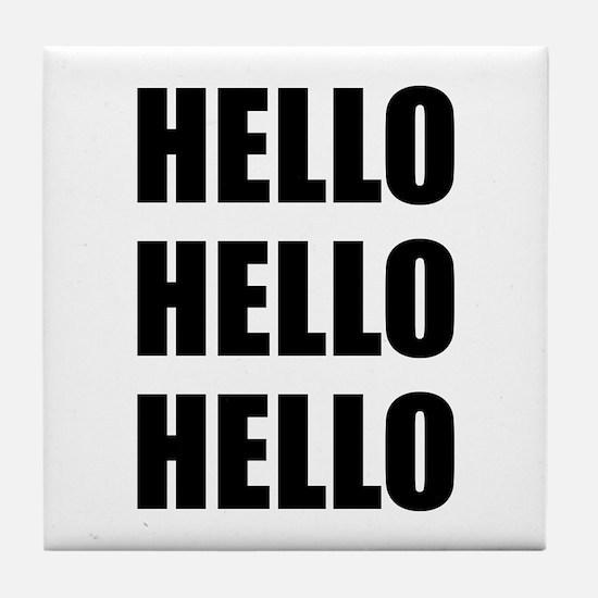 Hello Tile Coaster