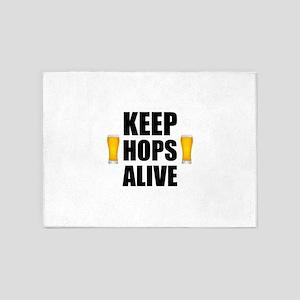 Keep Hops Alive 5'x7'Area Rug