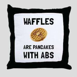 Waffles Abs Throw Pillow