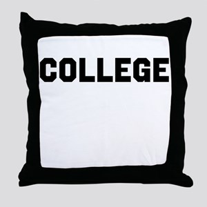 College Throw Pillow