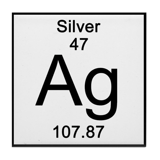 47 Silver Tile Coaster By Sciencelady