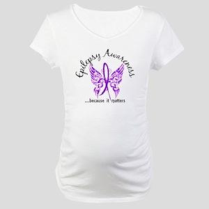 Epilepsy Butterfly 6.1 Maternity T-Shirt