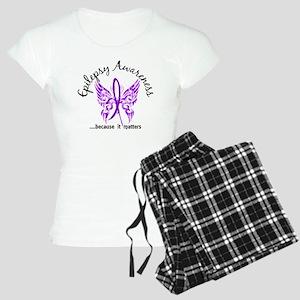 Epilepsy Butterfly 6.1 Women's Light Pajamas