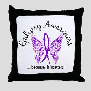 Epilepsy Butterfly 6.1 Throw Pillow