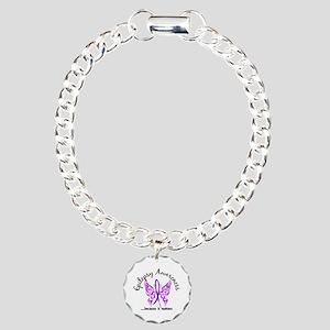 Epilepsy Butterfly 6.1 Charm Bracelet, One Charm