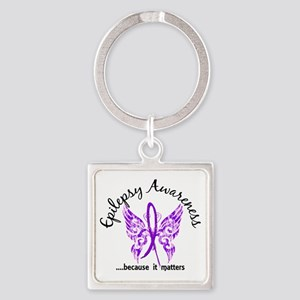 Epilepsy Butterfly 6.1 Square Keychain