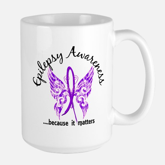 Epilepsy Butterfly 6.1 Large Mug