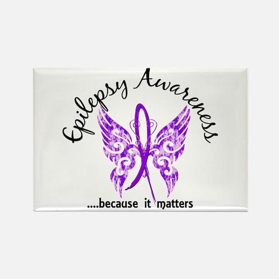 Epilepsy Butterfly 6.1 Rectangle Magnet