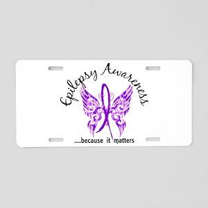 Epilepsy Butterfly 6.1 Aluminum License Plate